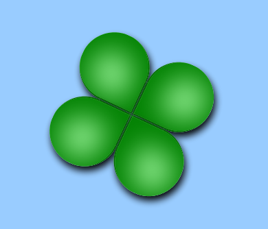 Pure CSS3 Clover
