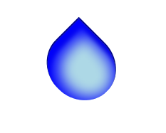 Pure CSS3 Waterdrop