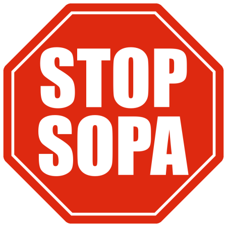 Blackout against SOPA and PIPA